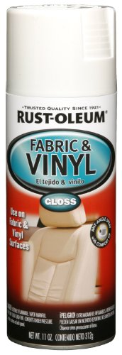 Rust-Oleum 248922 Automotive 11-Ounce Vinyl and Fabric Spray Paint, Gloss White (White Vinyl Spray Paint compare prices)