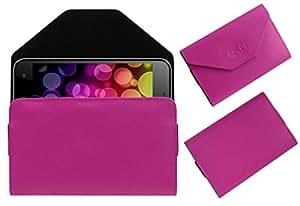 Acm Premium Pouch Case For Vox Kick K7 3g Flip Flap Cover Holder Pink