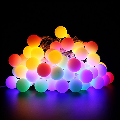 BlueFire LED Ball String Lights with Flashing 31ft 50 LEDs, Waterproof Globe String Light for Holiday Christmas New Year Wedding Gardens Lawns Patios Indoor & Outdoor Decoration (Multicolor) (Electric Garden Lights compare prices)