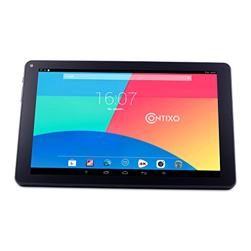 *CHIRSTMAS SALE* Contixo Q103 Plus 10.1″ Quad-Core Google Android 4.4 KitKat Tablet PC, IPS HD 1280×800 Display, 1GB RAM, 8GB Nand Flash, Bluetooth, Dual Camera, HDMI, Google Play Pre-installed, 3D Game Supported-UV Coating Protection