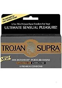 Amazon.com: Trojan Supra Non Latex Condoms, Retail Box of