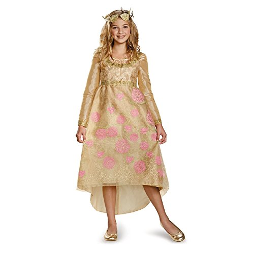 Maleficent Aurora Coronation Gown Girls Deluxe Costume