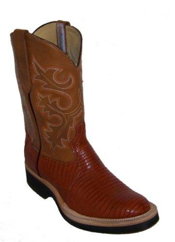 Los Altos Brown Genuine Ostrich Leg Ankle Boot Medium Round Toe Side Zipper EE+