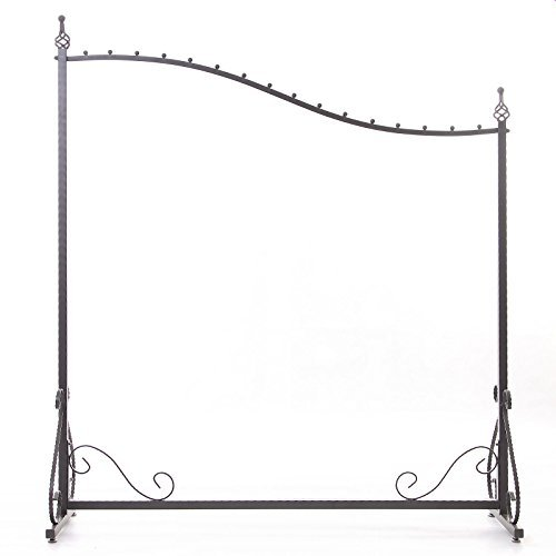 Free Standing Decorative Antique Grey Iron Garment Coat Rack (Y0021) 0