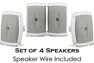 Bargain Yamaha All Weather Indoor & Outdoor Wall Mountable Natural Sound 130 watt 2 way Acoustic Suspension Speakers  Set of 4  White  Reviews