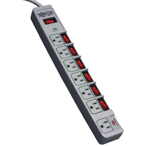 TRIPP LITE TLP76MSG Eco Green Switched 7 Outlet Conserve Energy Surge Protector