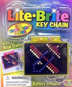 Lite Brite Key Chain