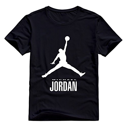 Michael Jordan Mens T-shirts Short Sleeve Black M By EAPIS