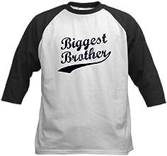 CafePress Kids Baseball Jersey - Biggest Brother Blue Text Baseball Jersey