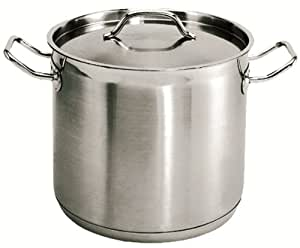 ChefLand 16 Qt. Stainless Steel Stock Pot, Induction Ready 3-Ply Clad Base, w/Lid *NSF* Commercial Grade *Great Quality*