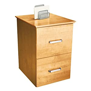 OfficeMax Oak Finish 2-Drawer Vertical File Cabinet