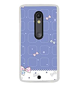 Cute Hair Bow Pattern 2D Hard Polycarbonate Designer Back Case Cover for Motorola Moto X Style :: Moto X Pure Edition