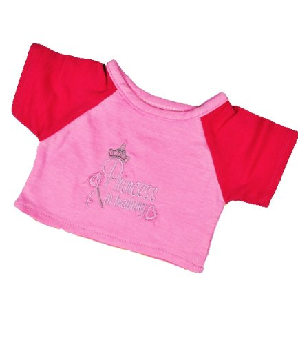 "Princess in Training T-Shirt Outfit Teddy Bear Clothes Fit 14"" - 18"" Build-a-bear, Vermont Teddy Bears, and Make Your Own Stuffed Animals"