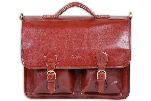 Ashwood Large Briefcase/Laptop Bag - Windsor - Cognac Brown