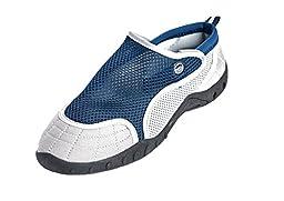 High Style Men\'s Aqua Water Shoes - Beach Shoes with Velcro closure (NavyGrey, US 12 Men)