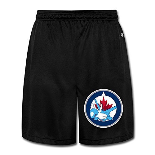 PKTWO Winnipeg Jets Latios Men's Fashion Short Running Pants Shorts XXL Black (Manitoba Cleaner compare prices)