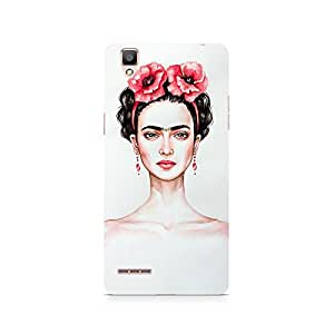 Mobicture Girl Abstract Premium Designer Mobile Back Case Cover For Oppo F1