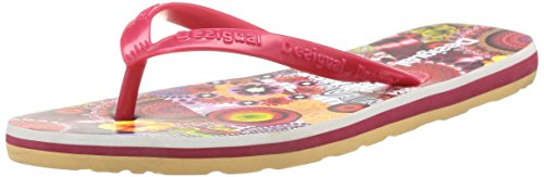 Desigual SHOES MANCHA, Infradito donna, Rosso (Rot (3080)), 37