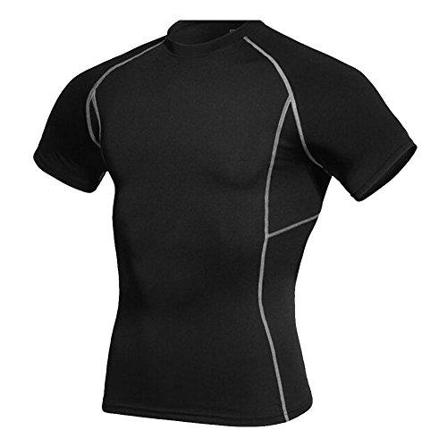 wodery-sportivo-da-uomo-athletic-tops-a-compressione-strato-base-a-maniche-corte-black-xl