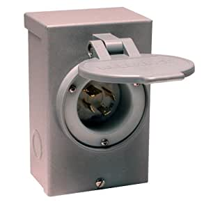 Reliance Controls PB20 L14-20 20 Amp Generator Power Cord Inlet Box For Up To 5,000 Watt Generators