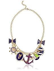 Style Fiesta Choker Necklace For Women (Blue) (JN215)