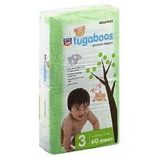 Rite Aid Tugaboos Diapers, Premium, Size 3 (16-28 lbs), Mega Pack, 60 ct