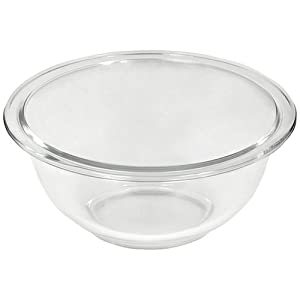Pyrex Prepware 1-Quart Rimmed Mixing Bowl, Clear