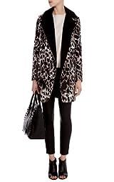 Giraffe print coat