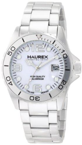 Haurex Italy 7K374DWW - Reloj analógico de cuarzo para mujer con correa de aluminio, color plateado