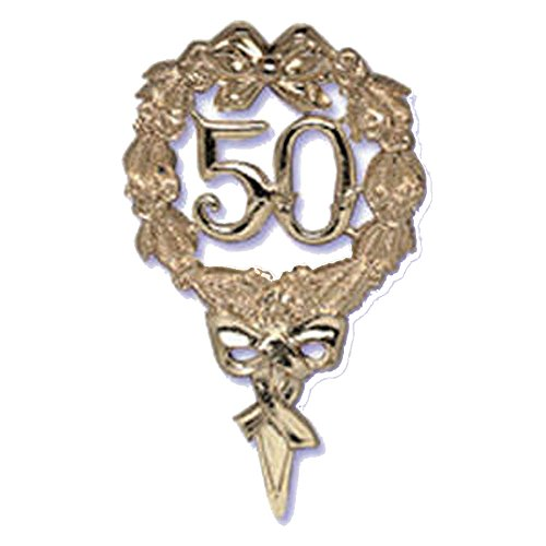 50th Gold Wedding Anniversary Pick Cake Decoration Topper Cake Baking