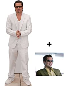 *FAN PACK* - Brad Pitt LIFESIZE CARDBOARD CUTOUT (STANDEE / STANDUP) - INCLUDES 8X10 (25X20CM) STAR PHOTO - FAN PACK #267