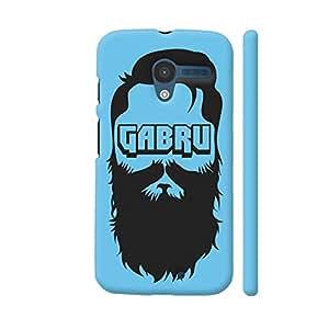 Colorpur Gabru On Blue Designer Mobile Phone Case Back Cover For Motorola Moto X1 | Artist: Rahul Negi