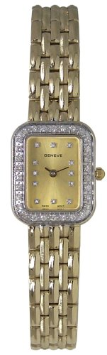 Geneve 14K Solid Gold Diamond Women's Watch - W060112