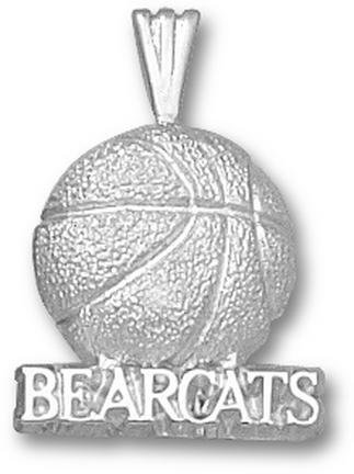 Cincinnati Bearcats Bearcats Basketball Pendant - Sterling Silver Jewelry by Logo Art