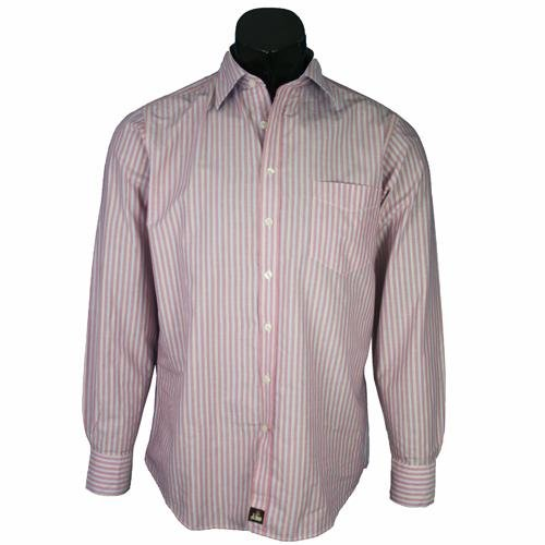 Simon Carter Pink Casual Stripe Shirt C2 Size 16