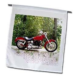 3dRose fl_ 4839_1 Harley-Davidson Motorcycle Picture Garden Flag