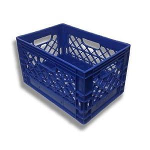 Blue Milk Crate