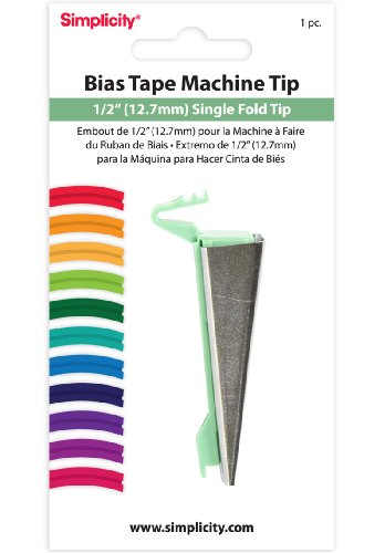 Why Choose Simplicity 1/2-Inch Single Fold Bias Tape Machine Tip