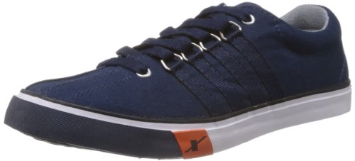 Sparx-Mens-Navy-Blue-Canvas-Sneakers-10-UK