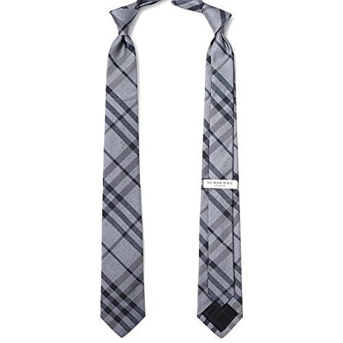 (バーバリー) BURBERRY ネクタイ【剣先幅:7cm】 濃淡のグレーのデザインモチーフ(ジャガード織り) [並行輸入品]