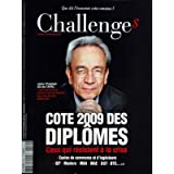 CHALLENGES [No 149] du 18/12/2008 - COTE 2009 DES DIPLOMES - CEUX QUI RESISTENT A LA CRISE - JACKY CHATELAIN ECOLES...