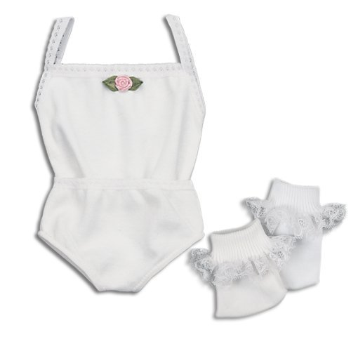 2 Pc Underwear Set & Lace Ankle Socks, Fits 18 Inch American Girl Dolls