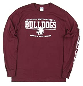 Buy Mississippi State Bulldogs Maroon & White Forever Long Sleeve T-Shirt by Mississippi State