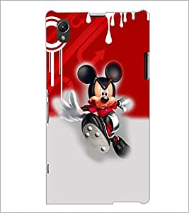 PrintDhaba Running Mickey D-3512 Back Case Cover for SONY XPERIA Z1 (Multi-Coloured)