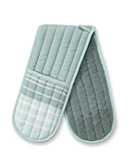 Modern Living Double Oven Striped Oven Mittens