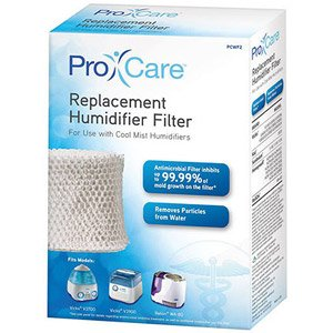 Pro Care Replacement Humidifier Filter PCWF2 For Use With Cool Mist Humidifiers Fits Models: Vicks V3700 & V3900 & Relion WA-8D, Kaz, Sunbeam, Honeywell & Many More (See List)