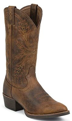 Justin Boots SV2564 Mens Silver Boot Rugged Tan by Justin