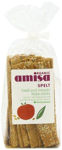Amisa Organic Spelt Italian Sticks Herb Crispbread 200 g