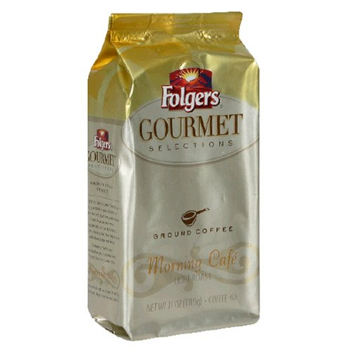 Folgers Gourmet Selections Coffee, Morning Cafe Ground Coffee, 11-Ounce Bags (Pack of 3)