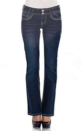 WallFlower Juniors Luscious Curvy Classic Bootcut Jeans in Campus Indigo in Campus Indigo Size: 0
